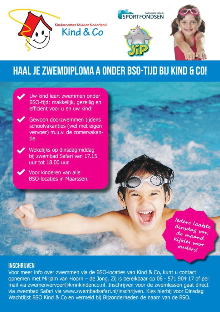 flyer zwemlessen Maarssen